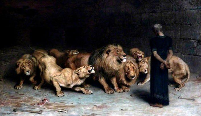 História de Daniel na Cova dos Leões